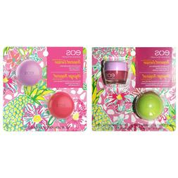 EOS*  2pc Set TROPICAL ESCAPE Lip Care BALM OR SCRUB Limited