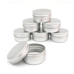 1/5/10pcs Metal Aluminum Round Tin Cosmetic Empty Jar Pot Cr
