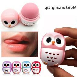 1 Piece Makeup Owl Candy Color Moisturizing Lip Balm Fruit E