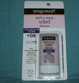 1 NEUTROGENA PURE & FREE BABY SUNSCREEN STICK SPF 60 + = 0.4