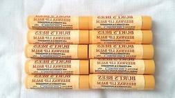 10 BURT'S BEES BEESWAX LIP BALM WITH VITAMIN E & PEPPERMINT