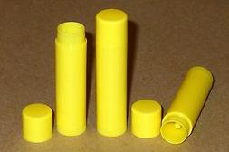 25 NEW Empty Bright Yellow LIP BALM Chapstick Tubes Containe