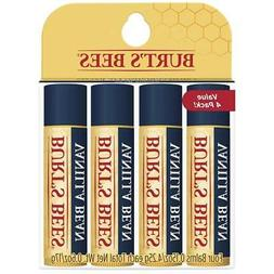100% Natural Moisturizing Lip Balm, Vanilla Bean - 4 Tubes