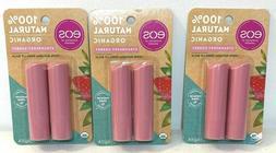 EOS 100% Natural Organic Lip Balm Strawberry Sorbet Flavor -