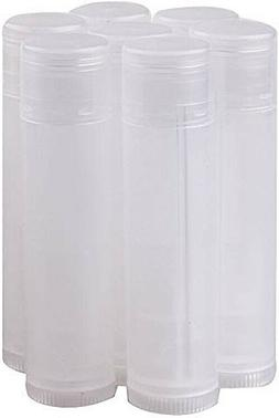 100 Transparent Clear bottom twist Lip Balm Tubes Natural .1