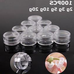 100PCS X 2g 3g 5g 10g 15g 20g Transparent Sample Jars Pot Co