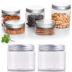 10PCS 50ml-250ml Empty Cosmetic Pots Lip Balm Container Jar