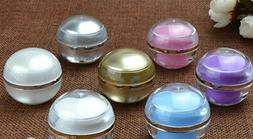 10pcs Cosmetic Ball Container 5g 7color Lip Balm Jar Eye Glo