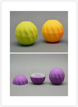 10pcs Cosmetic Ball Container 7g 4color Lip Balm Jar Eye Glo