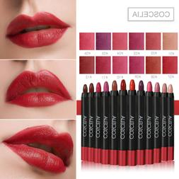 Coscelia 12 Colors crayon Lipstick Waterproof Makeup Long La