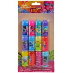 Trolls 12 pack Lip Balm on Card for Kids New Licensed Produc