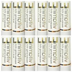 12 x Naturally Pure Vitamin E Moisturizing Sticks 3.5 grams