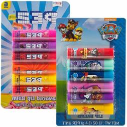 12pc Candy Flavored Lip Balm Assorted Flavors Gloss