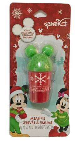 1X Disney Candy Cane Swirl Flavored Lip Balm 0.14 Oz Cup Sha