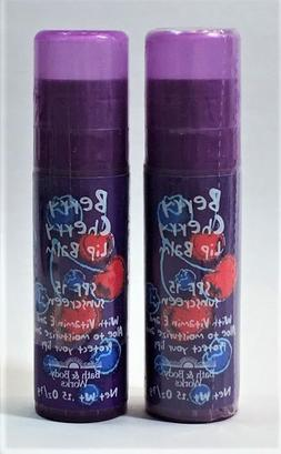 2 Bath & Body Works Berry Cherry Lip Balm .25 Oz/7 g - New a