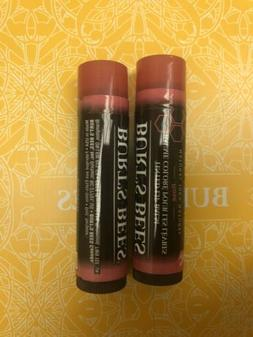 2-BURT'S BEES BEESWAX Rose LIP BALM BRAND NEW Free Shipping