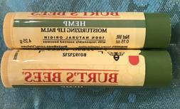 2 burt s bees hemp moisturizing lip