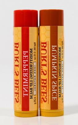 2 Burts Bees 100% Natural Moisturizing Lip Balm - PUMPKIN SP