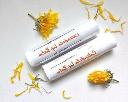 2 Calendula Organic Shea Butter Herbal Lip Balm Unscented Na