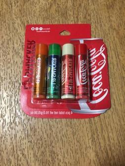 2 Lip Smacker Flavored Lip Balms Set: Coca Cola, Coke Vanill