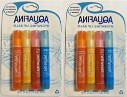 2 Aquafina Hydrating Lip Balm 4 Pack  Jojoba & Almond Oil Pu
