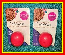 2 EOS Lip Balm TEXAS PECAN PIE Limited Ed Shea Butter Chappe
