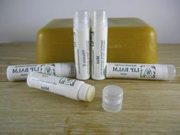 2 Natural Lip Balm, Organic Coconut Oil & Beeswax Moisturize
