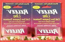 2 New/Sealed 0.20oz RELEEV 1 Day Cold Sore Symptom Treatment