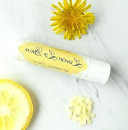 2 Organic Sunflower Lemon Shea Butter Lip Balm Chapstick dry