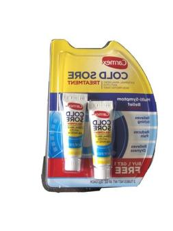 2 pack Carmex Cold Sore Treatment Multi Symptom Relief ~NEW/