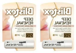 2 Pack Blistex Deep Renewal Lip Protectant Spf 15 0.15 Oz Ea