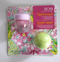 Eos 2-Pack Tropical Escape Guava Lip Scrub & Pina Colada Lip
