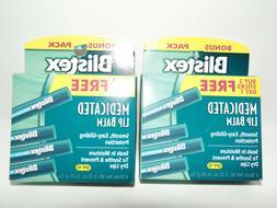 2 packs of 4 medicated lip balm