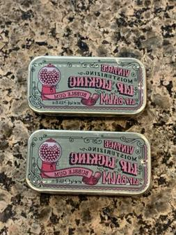 RETRO Vintage Lip Licking BUBBLE GUM Lip Balm Gloss Tin Sli