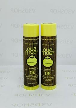 2*Sun Bum Sunscreen Lip Balm SPF 30 Banana 0.15oz-AD96