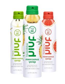 2 hint Sunscreen Spray SPF 30 - 6 oz  CHOICE of PINEAPPLE GR
