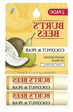 2 Tubes - Burt's Bees 100% Natural Moisturizing Lip Balm, Co