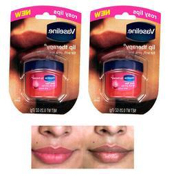 2 Vaseline Therapy Lip Balm 0.25 Oz Rosy Flavor Petroleum Je