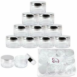 Beauticom 20g 20ml USA Acrylic Round Clear Jars with Lids fo