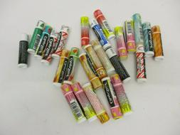 25 COUNT CHAPSTICK BRAND LIP BALM ASSORTED FLAVORS SEALED -