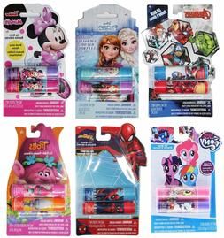 TOWNLEY 2pc LIP BALM Flavored DISNEY+MARVEL+TROLLS Character