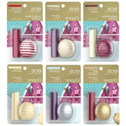 EOS* 2pc Set LIP BALM Holiday/Christmas REVO/SPHERE+STICK Or