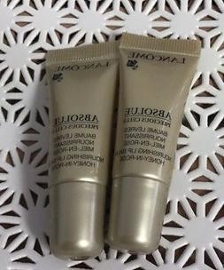 2X Lancome Absolue Precious Cells Nourishing Lip Balm Honey-
