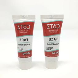 2x CoTZ SPF 40 Natural Tinted Face Sunscreen Travel Size 0.1