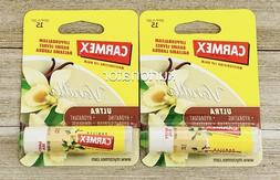 2x Carmex Ultra VANILLA Lip Balm NEW Limited Edition SPF 15