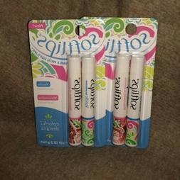 2X Softlips Watermelon & Vanilla Lip Protectant Balm Gloss 4