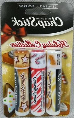 3 ChapStick Limited Edition Candy Cane Pumpkin Pie Sugar Coo