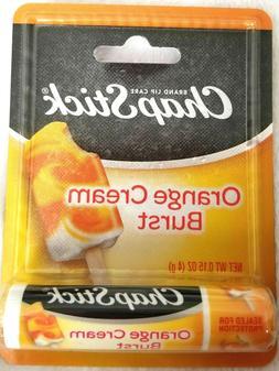3 Pack ChapStick .15 oz. Orange Cream Burst Lip Balm Sealed