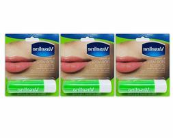 3 Pack Vaseline Lip Therapy Aloe Vera .16 oz. Lip Balm New S