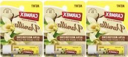 3 Pack Carmex Vanilla Ultra Moisturizing Lip Balm 0.15 oz/ea